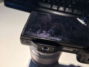 How to fix Sony Nex monitor screen peel off